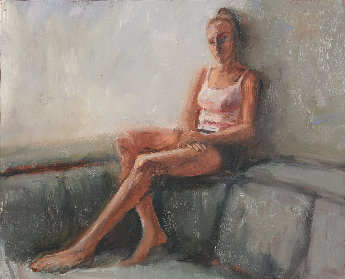 AFTERNOON-REPOSE-oil-sketch-by-artist-Elizabeth-Reed-during-the-Corona-Virus-pandemic