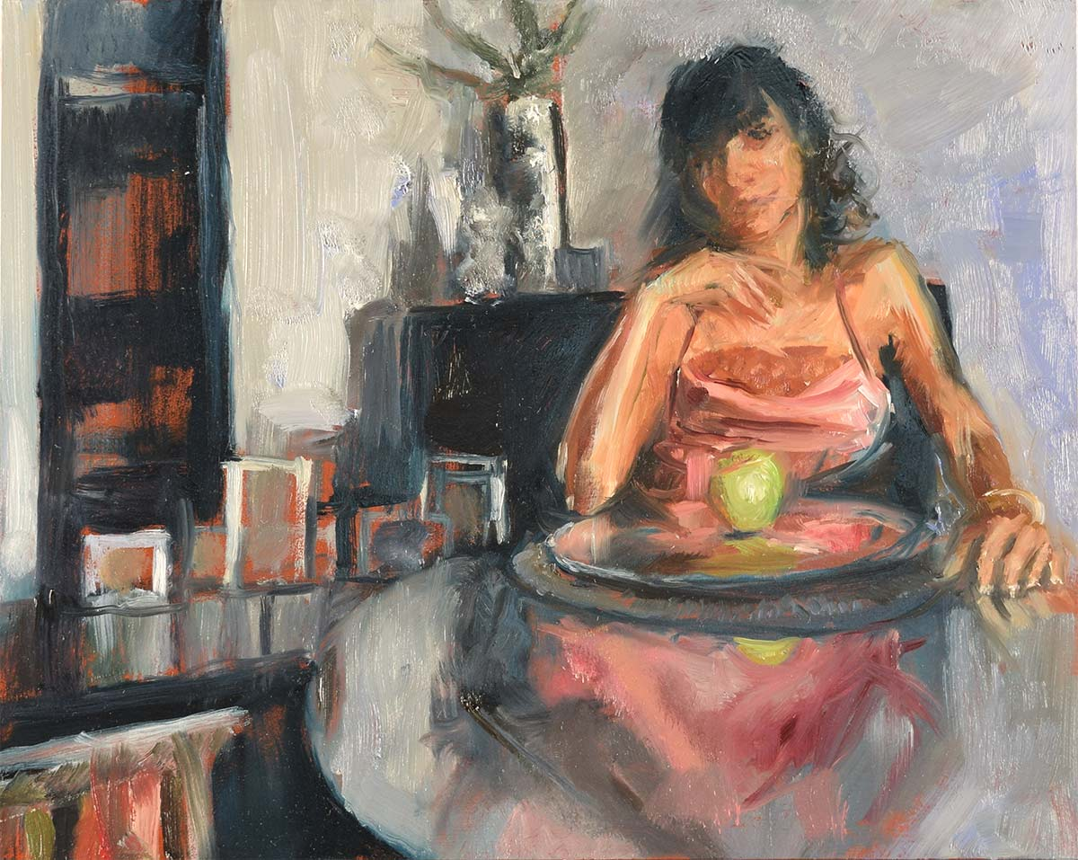 CONTEMPLATING-THAT-APPLE Elizabeth Reed capturing the spirit of people and places