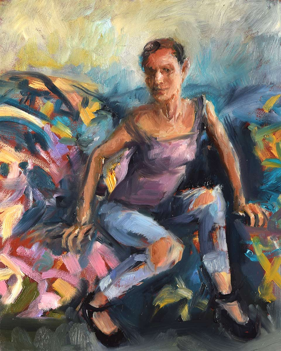 Fun-with-Flowers-Oil-Sketch-by-artist-Elizabeth-Reed-during-the-Corona-virus-pandemic