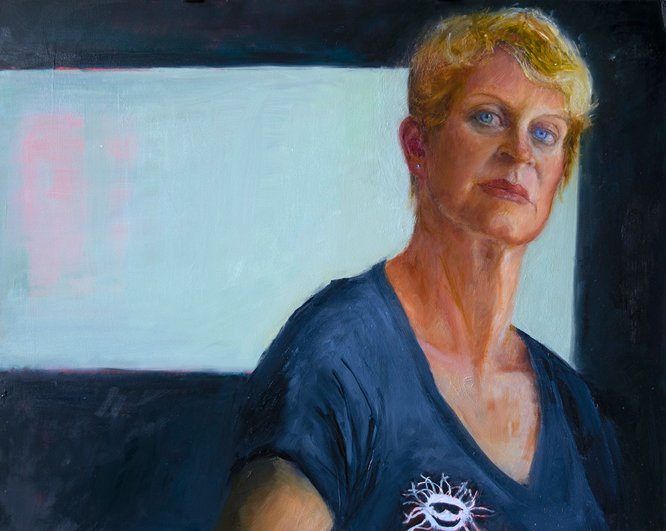 Killer-Bee-Self-Portrait-in-oil-by-artist-Elizabeth-Reed