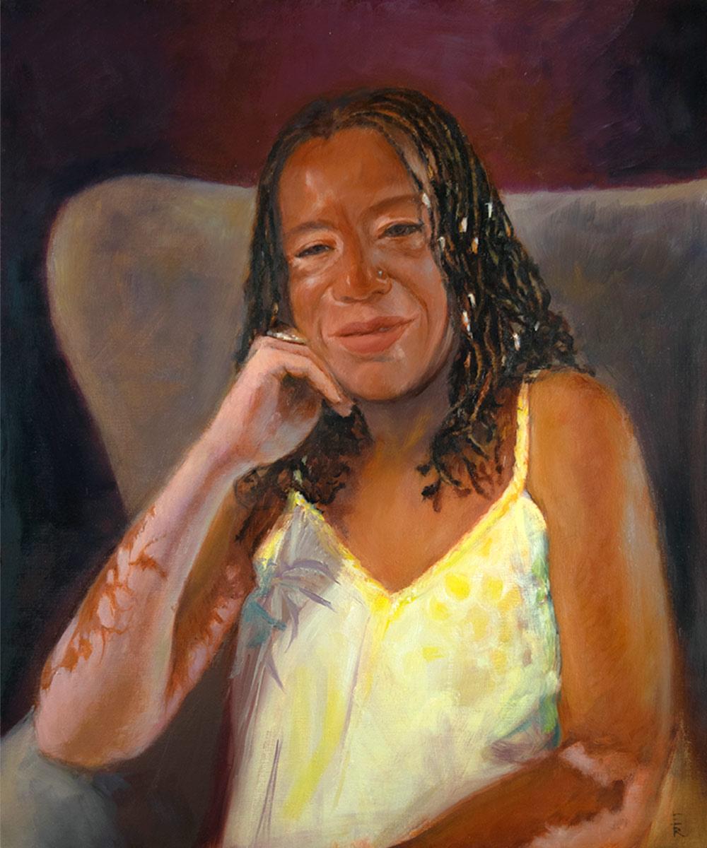 MICHELLE-BLAND-Oil-Portrait-by-artist-Elizabeth-Reed-FACeADE-Project