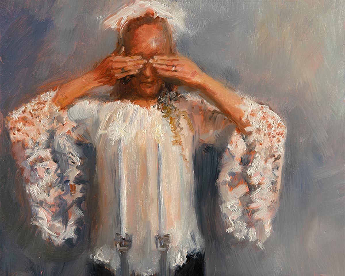 ROSH-HASHANAH-oil-sketch-by-artist-Elizabeth-Reed-during-COVID-19-pandemic