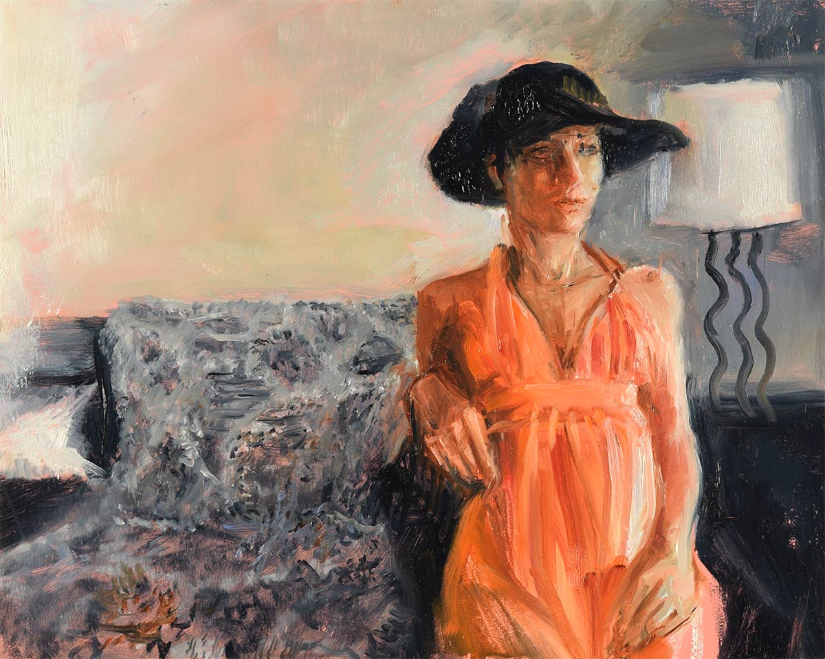 WATCHING-WITH-THE-HAT-oil-sketch-by-artist-Elizabeth-Reed-during-the-Corona-Virus-pandemic