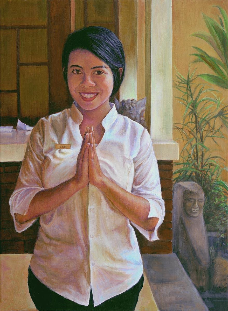 Oil-portrait-of-Febri-from-Ubud,-Bali-by-artist-Elizabeth-Reed