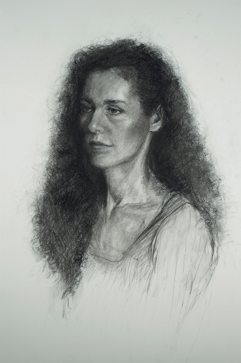 Portrait-of-Astrid-in-Graphite-and-Charcoal-by-artist-Elizabeth-Reed