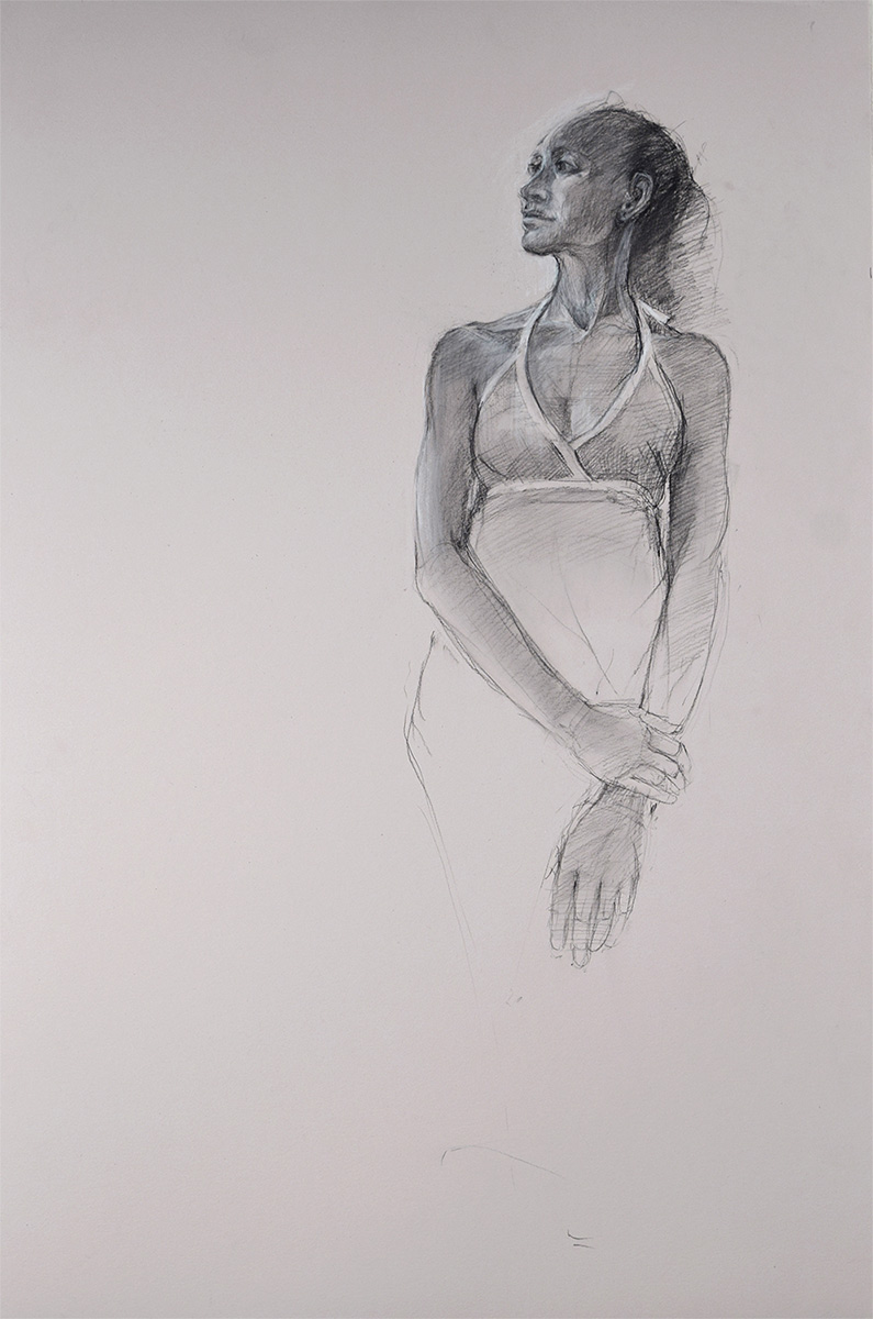 SUNDRESS-SKETCH-charcoal-sketch-by-artist-Elizabeth-Reed