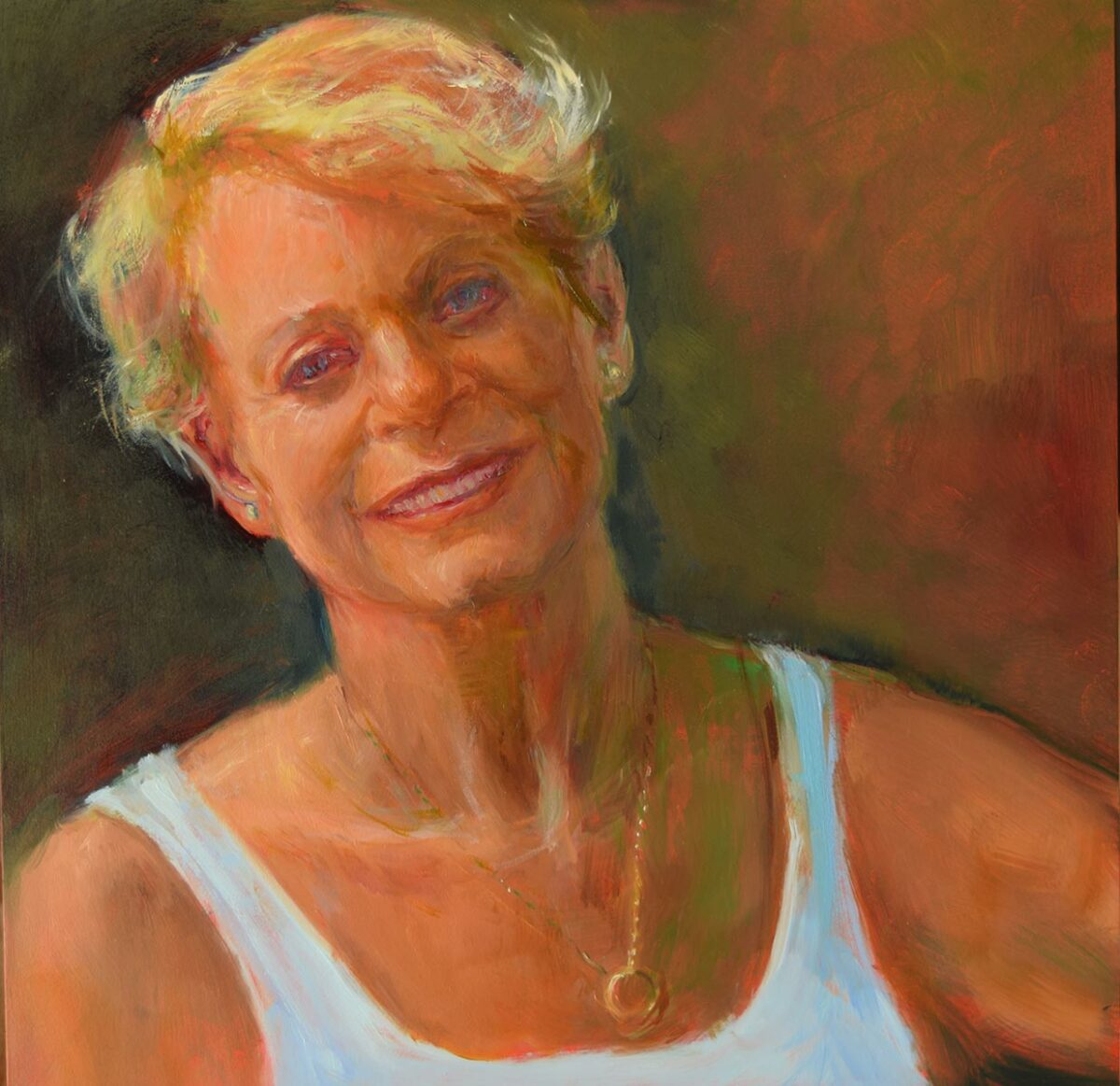 Self-Portrait-at-60-oil-painting-by-artist-Elizabeth-Reed
