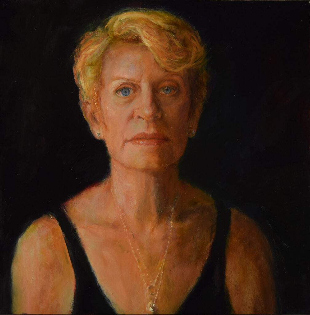 self portrait-at-64-oil-painting-Commission a fine art portrait by-artist-Elizabeth-Reed