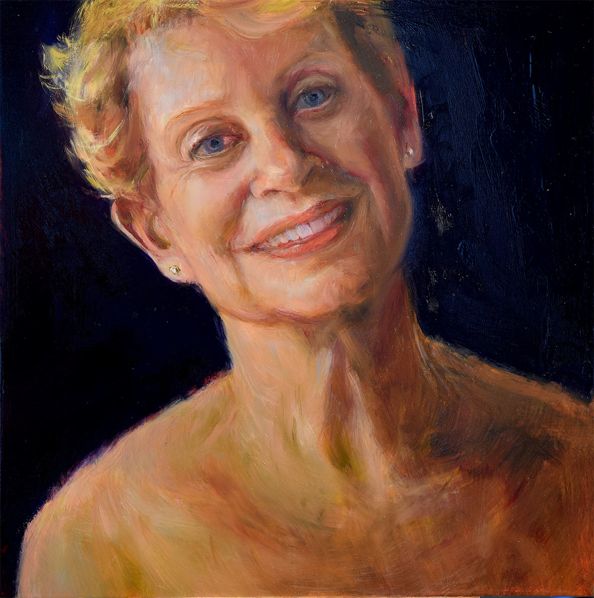 Self-Portrati-at-62-oil-painting-by-artist-Elizabeth-Reed