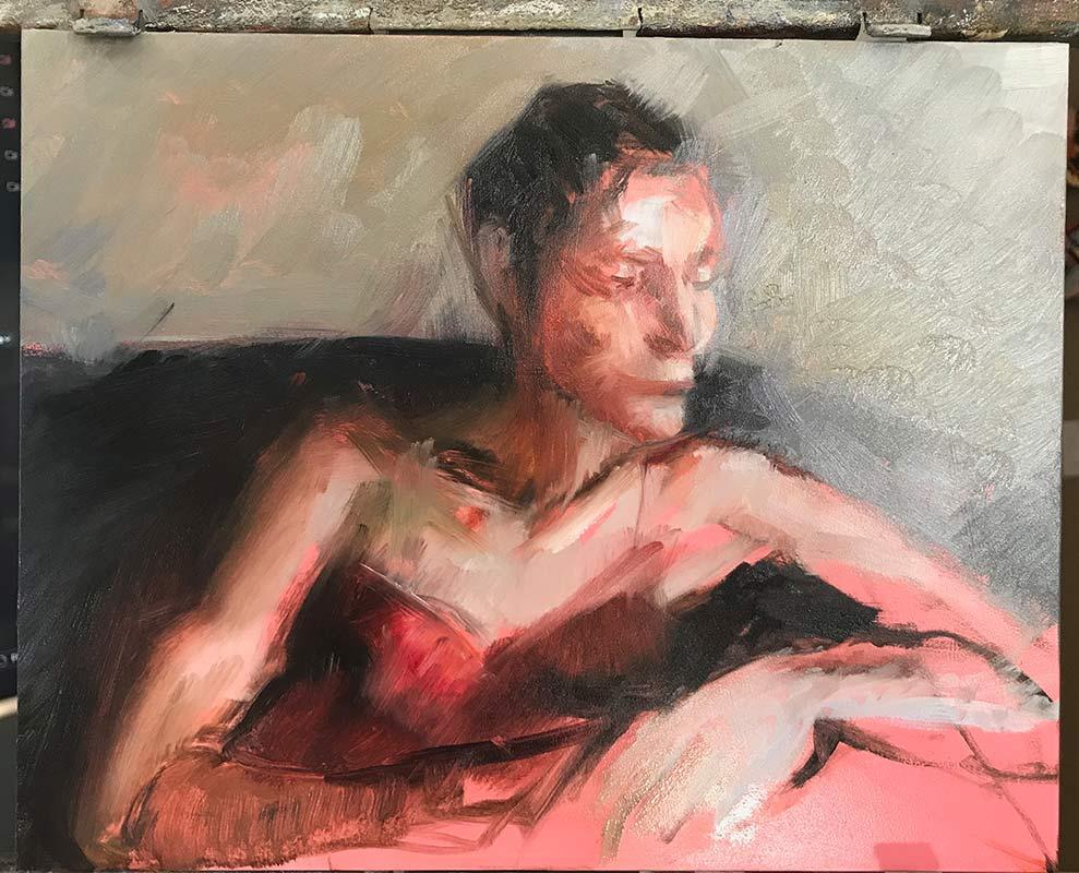 Fifth-process-photo-of-portrait-of-Noelle-Commission a fine art portrait by-artist-Elizabeth-Reed