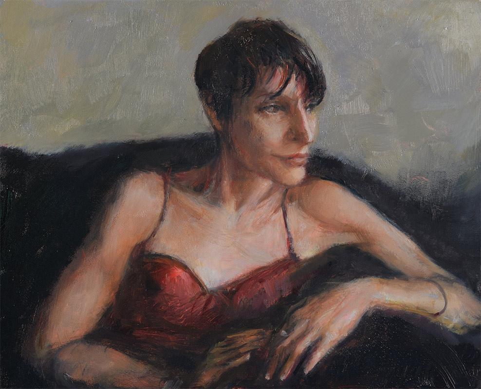 Oil-Portrait-of-Noelle-Commission a fine art portrait by-artist-Elizabeth-Reed