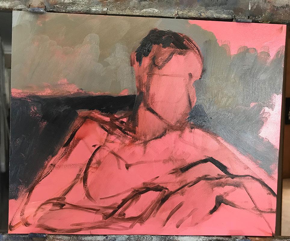 Second-process-picture-of-portrait-of-Noelle-Commission a fine art portrait by-artist-Elizabeth-Reed