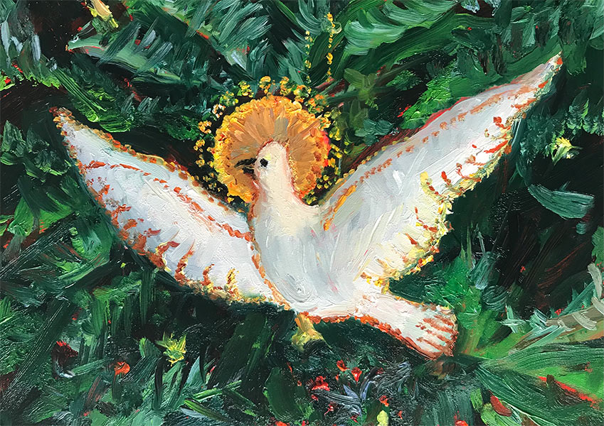 Peace on Earth Oil Painting by artist Elizabeth Reed