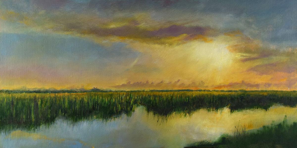 Sunrise on the Levee
