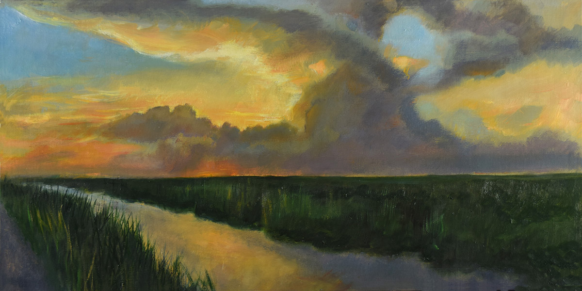 Sunset on The Everglades Elizabeth Reed capturing the spirit of people and places